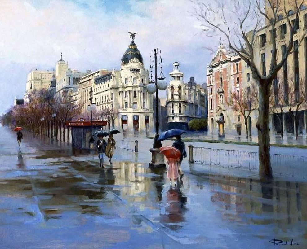 Художники которые рисовали городские пейзажи