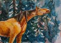 """""""Конь в зимнем лесу"""", автор Игнатьева Мария"""