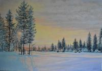 """Зимний закат (Winter sunset)."", автор Горбик Александр"