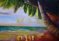 """""""Море,пальмы,песок"""", автор Вайнтроб Эдуард"""