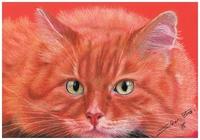 """""""Огненный кот"""", автор Sher Oxana"""