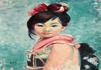 """""""Японская девочка Akina,  что означает Весенний цветок """", автор Зарубина  Ирина"""