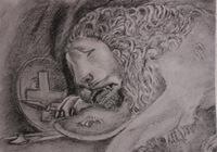 """""""Умирающий лев"""", автор Kareva Elena"""