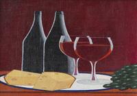 """Натюрморт с вином и сыром # 8."", автор Бурмин  Виктор"