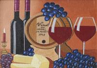 """Натюрморт с виноградом и сыром # 2."", автор Бурмин  Виктор"