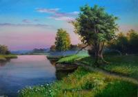 """""""Вечер на реке"""", автор лобович игорь"""