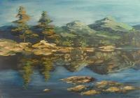 """""""Лесное озеро"""", автор Мамалыгина Виктория"""