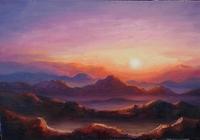 """""""Рассвет на горе Моисея."""", автор Цыганова Наталья"""