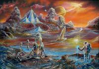 """""""Парусники Титана,2205 год."""", автор Филиппский Виктор"""