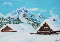 """Зима в горах."", автор Соломатова Алена"