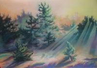"""""""Утро на лесной поляне."""", автор Докучаева Алла"""
