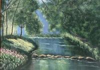 """""""Река в лесу"""", автор Геннадий"""
