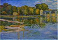 """""""Мост в Аржантее.Франция"""", автор Шабалин Семён"""