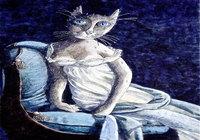 """""""Кошачья персона.Мадам Рекамье (по Жерару)"""", автор Трубин Дмитрий"""