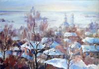 """""""Зимний пейзаж"""", автор Булавинцева Мария"""