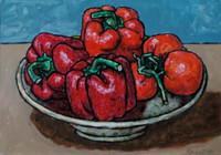 """""""""""Ваза с красными перцами и помидорами"""""""", автор Трубин Дмитрий"""