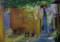 """""""Маленькая кофейня на старой улочке в Греции."""", автор Бойко Димтрий"""