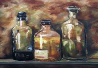 """""""Бутылки на полке"""", автор ArtSt"""