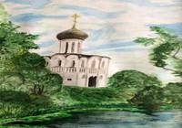 """""""Храм на реке"""", автор Якубова Алия"""