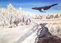 """ зимний кит "", автор Зыбина Оксана"