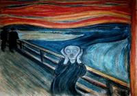 """Крик по мотивам картины Эдварда Мунка пастели"", автор IGENBOR Борисова Ирина"