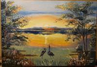 """""""Рассвет на озере"""", автор юлия"""