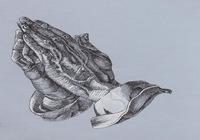 """Копия картины Дюрера ""Руки молящегося"" "", автор Карцева Анастасия"