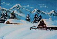 """""""Зимние горы """", автор Катерина Готье"""