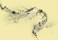 """""""Полет совы. На бежевом фоне"""", автор Миронова Наталия"""