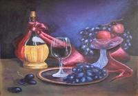 """""""Натюрморт с бокалом вина"""", автор Лозовая Ирина"""