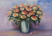 """Цветы в вазе"", автор Тамара"