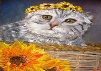 """""""Кот в корзине."""", автор Sergey"""