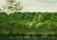 """""""Тропарево. Озеро (фрагмент)"""", автор Маликова Ксения"""