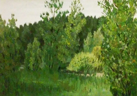 """""""Тропарёво. Лес .Деревья. """", автор Маликова Ксения"""