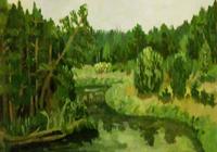 """""""Селижарово. Река Селижаровка"""", автор Маликова Ксения"""