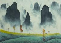 """""""китайский пейзаж с туманом"""", автор моссолайнен николай"""