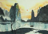 """""""закат в горах"""", автор моссолайнен николай"""