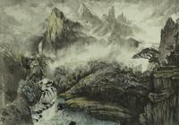 """""""мостик и хижина в горах"""", автор моссолайнен николай"""
