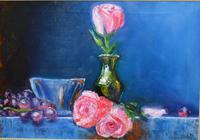 """""""Натюрморт с розой и виноградом."""", автор Sergey"""