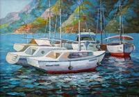"""Яхты на рейде"", автор Лашин Валерий"