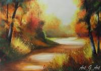 """""""Утро в золотом лесу"""", автор Гришенков Артем"""