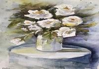 """""""Белые цветы"""", автор Димова Мими"""