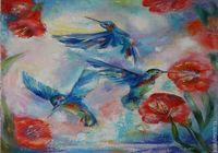 """""""Волшебный мир колибри"""", автор Лесина"""