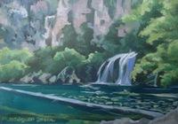 """""""У водопада"""", автор Миронова Полина"""