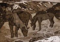 """""""На пути в Бахчисарай. Лошадь и жеребенок """", автор Ива Анна"""