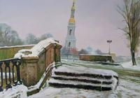"""""""Фонтанка зимой"""", автор Хомутинников Валерий"""