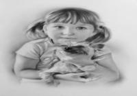 """""""Портрет Лизы с собакой"""", автор Хомутинников Валерий"""