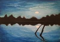 """""""Ночь на реке"""", автор Баландин Дмитрий"""