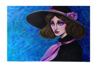 """Девушка в шляпе"", автор Ахмедов Нариман"