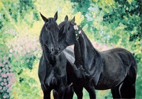 """""""Чёрные лошади"""", автор Скачкова Мария"""